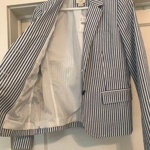 J. Crew Striped Blazer -Size 8